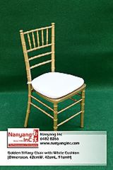 Golden Tiffany Chair with White Cushion (Dimension.jpg