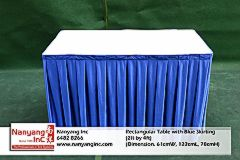 Rectangular Table with Blue Skirting (2ft by 4ft) (Dimension.jpg