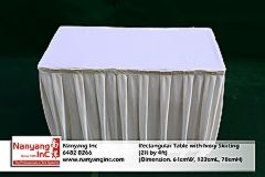 Rectangular Table with Ivory Skirting (2ft by 4ft) (Dimension.jpg