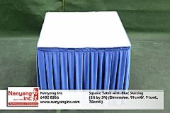 Square Table with Blue Skirting (3ft by 3ft) (Dimension.jpg