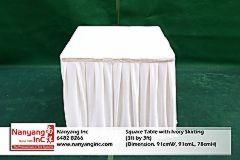 Square Table with Ivory Skirting (3ft by 3ft) (Dimension.jpg
