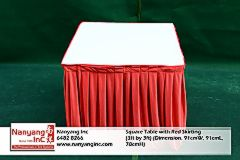 Square Table with Red Skirting (3ft by 3ft) (Dimension.jpg